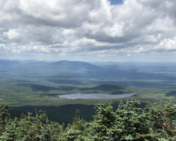 Photo of the view from Coburn Mountain in Maine?s North Woods, courtesy of Carey Kish.