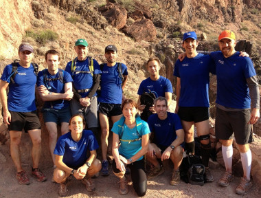 Earthrise Clinic Director Craig Johnston, top, 2nd from right, with the 2013 Earthrise Grand Canyon Run team.