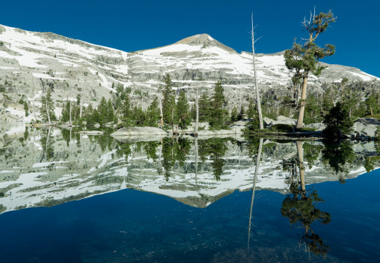 Ropi Lake, in Desolation Wilderness. Sangye backpacked through Desolation Wilderness over 4th of July weekend.