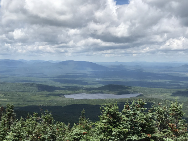 Photo of the view from Coburn Mountain in Maine's North Woods, courtesy of Carey Kish.