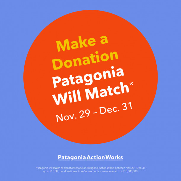 Patagonia is matching donations