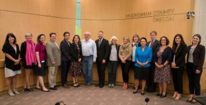 Multnomah County staff and Commissioners with those that provided testimony at the September 20th...
