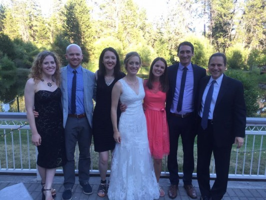 "<p class=""p1"">From left: Rhylee Smith '14, Jake Brooks '14, Alyssa Mastic, '14, Jordan Schoonover '14, Bridgett Shephard '14, Ben Saver '14, and Professor Jim Oleske </p>"