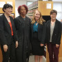 Clinic students Sara Densmore, Amber Cognata and Michelle Gamow-Jones with Multnomah County Circu...