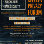 Event flyer for 2020 Data Privacy Forum