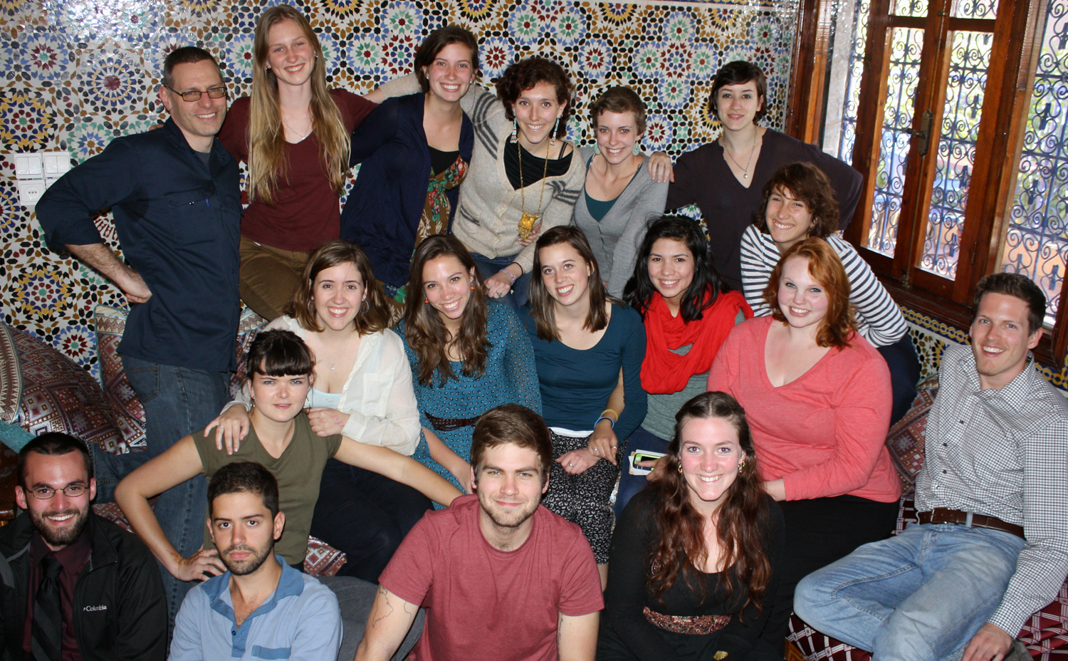 Paul Powers, upper left, is leading the Spring 2013 Lewis & Clark overseas program in Morocco.