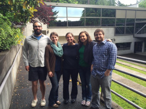 Green Energy Fellows (from left): Nate Larsen, Amy Schussler, Kyra Hill, and Nick Lawton; Directo...