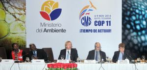 Prof. Wold (far right) at the Conference of the Parties for the Convention on Migratory Species i...