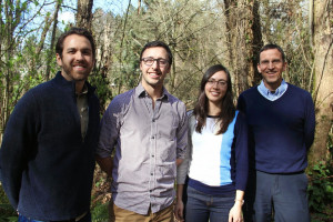 Daniel Rottenberg, Jacob Duginski, Stephanie Grant, and Professor Craig Johnston.