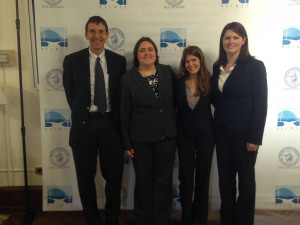 National Environmental Moot Court team: Prof. and Coach Johnston, Kathryn Roberts, Rachel Briggs,...