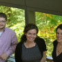 Green Energy Fellows Nick Lawton and Amelia Schlusser with Professor Melissa Powers
