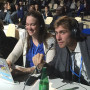 Students Liz Mering and Olivier Jamin at COP plenary session