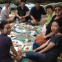 Aubrey Baldwin picnics with Korean law students at Soyang Lake