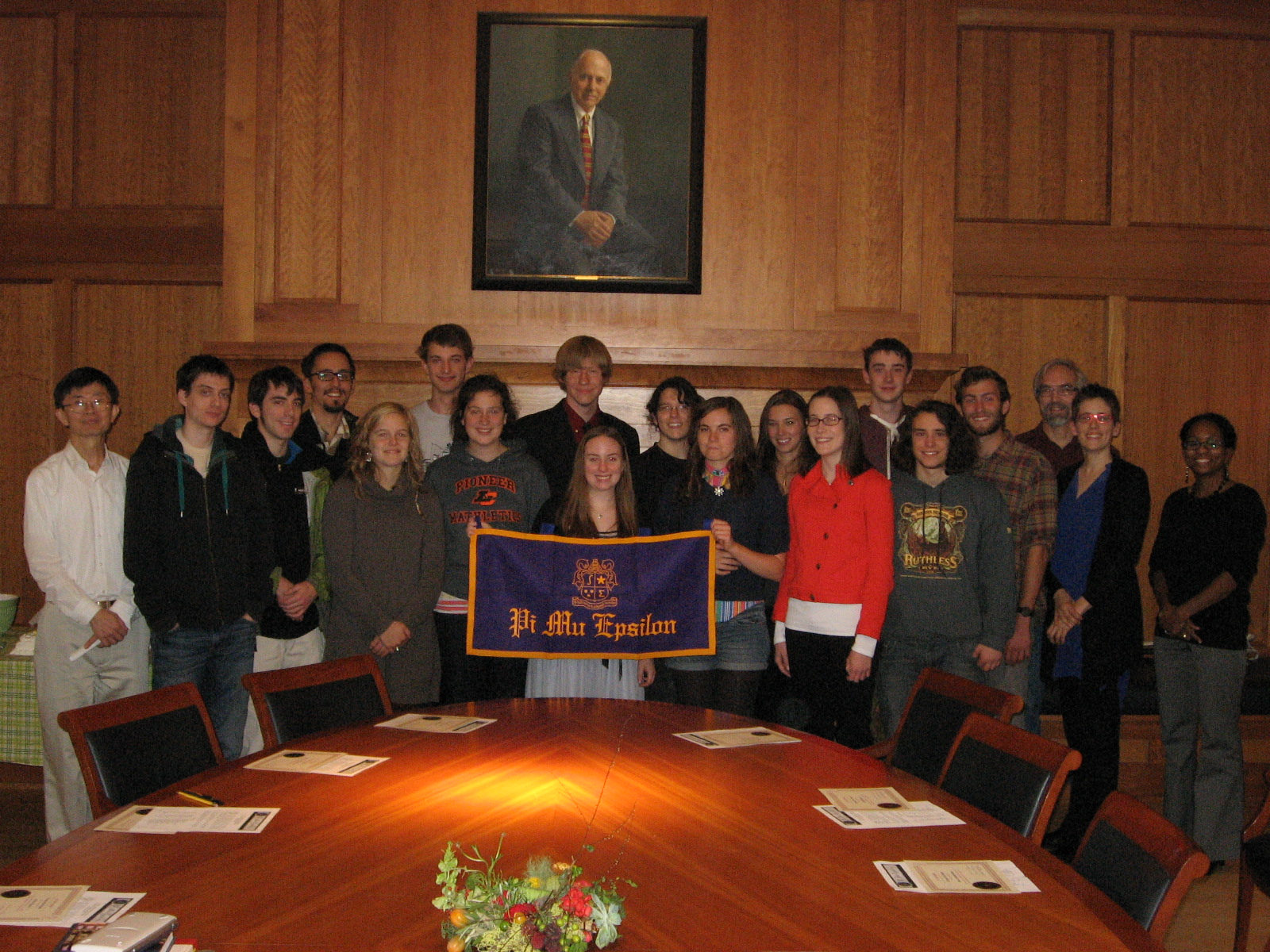 Pi Mu Epislon, Mathematics Honor Society, inducted 18 new student members in a ceremony on October 24, 2012.